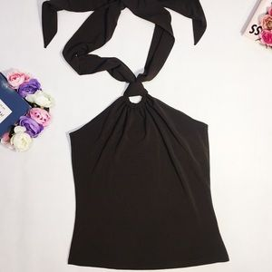 Michael Kors sexy party brown halter top size S